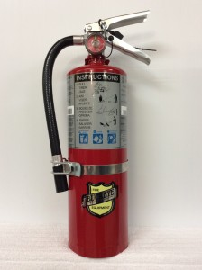 5lb ABC dry chemical with vehicle bracket